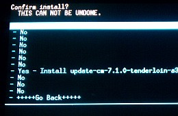 Upgrading OS by installing the zip file