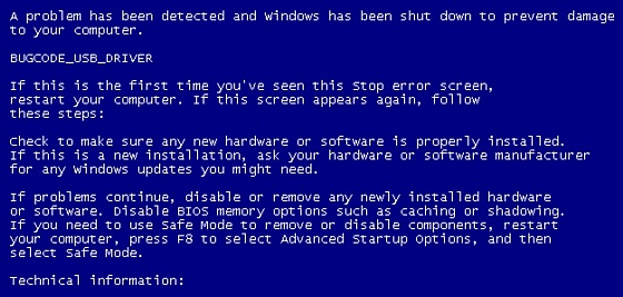 Windows 7 Blue Screen