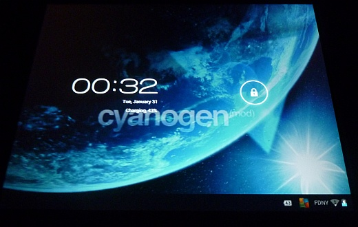 CyanogenMod 9 on my HP TouchPad