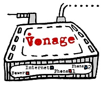 Vonage internet telephone adapter