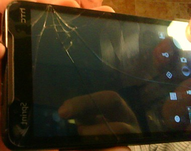 Cracked Digitizer Glass